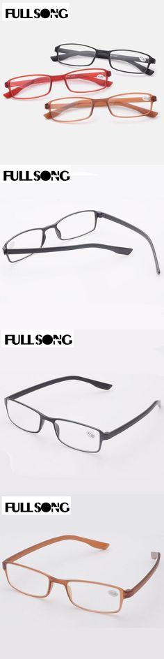 FULLSONG TR90 Reading Glasses Super Light Soft Small Frame Spectacles Reader Black Brown Eyeglass Eyewear +1.0 +2.0 +3.0 +4.0
