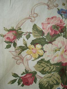 Rose Barkcloth