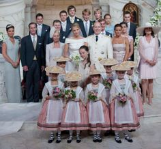 The Family of Monaco with the bridesmaids!!! From the top, L-R: 1st Row: Prince Ernest of Hanover, Prince Christian of Hanover 2nd Row: Sean Wittstock, Garreth Wittstock, Pauline Ducruet, Louis Ducruet 3rd Row: Donatella Knecht de Massy, Chris Le...