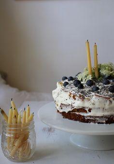 Lemon Blueberry Poppy-seed Cake