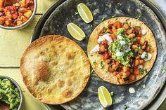 Veggie Bean & Guacamole Tostadas Recipe | HelloFresh