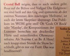 Crystal Ball live review about the Ranch Festival 2015 in Hechingen.  Written by Martin Schneider for Rock-it! Magazine #LifeRider #crystalball #crystalballrocks #metal #hardrock #heavymetal #ballsareback #swissband #swissmetalband #ranchfestival #livereview #rockitmagazine #wom Press Release, The Ranch, Crystal Ball, Metal Bands, Hard Rock, Heavy Metal, Magazine, Writing, Crystals