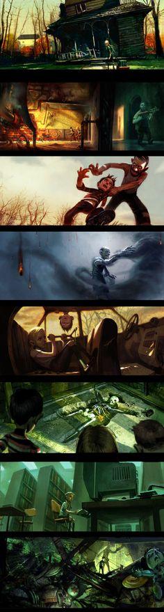 #illustration #concept #MonsterHouse