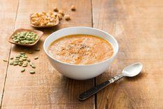 Roasted Pumpkin Soup with Ginger Recipe Recipe Using Pumpkin, Pumpkin Recipes, Soup Recipes, Cooking Recipes, Kitchen Recipes, Yummy Recipes, Yummy Food, Roast Pumpkin Soup, Roasted Butternut Squash Soup