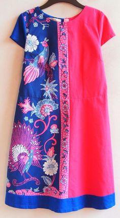 Batik dress combination colors