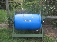 How to make a tumbling composted from a 55gal drum