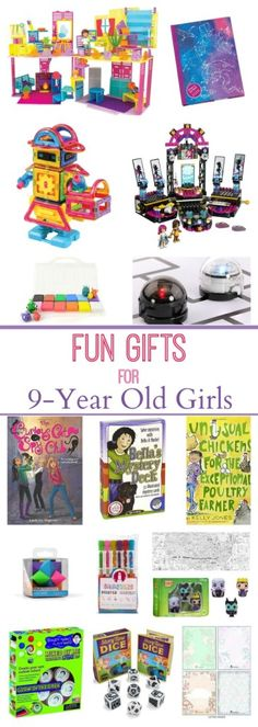 Want gifts for 9 year old girls that they will love? How about one of these books, art ideas, dolls, or games?