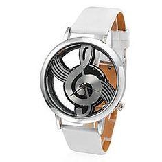 5.99€ MiniInTheBox cadran note de musique de style mode de montre creuse des femmes