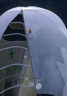 crewing on a grand prix yacht - Louis Vuitton Cup, 1992 (PHILIP PLISSON) - Seatech Marine Products / Daily Watermakers