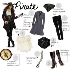 """DIY Halloween Costume: Pirate"" by fashionfemmefatale on Polyvore"
