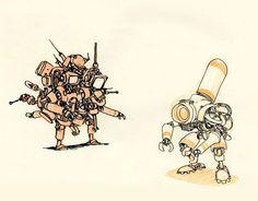 Robots by JakeParker.deviantart.com on @deviantART