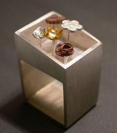 HELENA REZENDE -BR- Sterling silver, copper and gold