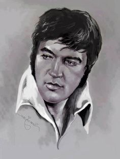 Desenho de Elvis Presley