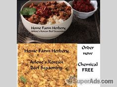 FREE recipe included when you order Arlene's Korean Beef Seasoning, Order now in New York NY - Free New York SuperAds