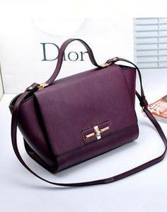 Purple Dior handbag