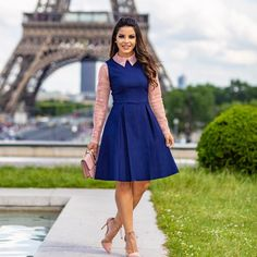 hate the sheer sleeves but love the overall look. Plus, this color combo is my jam Modest Dresses, Modest Outfits, Skirt Outfits, Modest Fashion, Skirt Fashion, Cute Dresses, Casual Dresses, Fashion Outfits, Fashion News