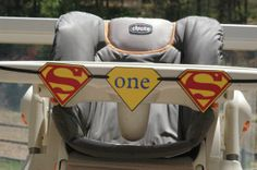 High Chair Banner Superman Super Man Happy by CreativePartyBanners, $12.00