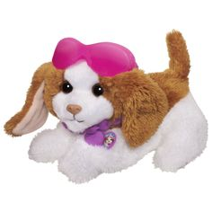 This is the cutest toy: FurReal Friends Dress Me Babies Pat `N Play Pup Pet http://www.amazon.com/dp/B00AHVJ9TU/?tag=pinterest0e50-20