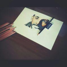 Portrait of Nesli. Work in progress. Made by me.