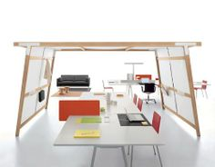 Open-space concentration rooms - design by Ronan & Erwan Bouroullec JOYN : HUT vitra USA