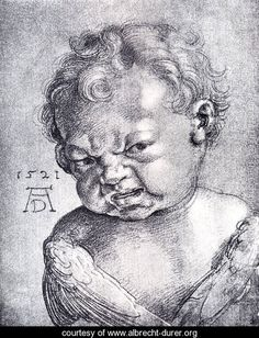 "Albrecht Dürer ""Weeping Cherub,"" I can't stop laughing at this drawing. It's even funnier to me that it's from the century. Melencolia I, Albrecht Dürer, Renaissance Kunst, Jan Van Eyck, Italian Artist, Old Master, Great Artists, Art History, Printmaking"