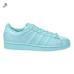adidas Originals Women's Superstar Glossy Toe W Fashion Sneaker, Easy Mint Easy Mint Black, 5.5 M US - Adidas sneakers for women (*Amazon Partner-Link)