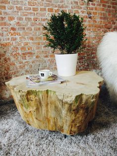 Boomstam salontafel Conifeer. Tree trunk table Conifer. Dutch design from a furniture designer. A nice coffee table for each interior. Creative Open is specialized in processing wood products. Especially trunk tables. Get some wood inspiration! #treetrunk #tree #wood #interior #design #inspiration #CreativeOpen #treetrunktable #table #coffeetabel #Conifer