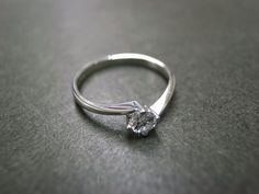 Classic Diamond Engagement Ring in 18K White