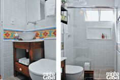 Reforma fez o banheiro pequeno parecer maior