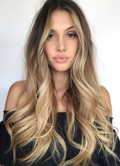 Pinterest: DEBORAHPRAHA ♥️ long hair with balayage and blonde ombre hair color
