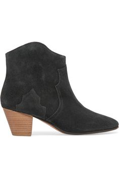 Isabel Marant - étoile Dicker Suede Ankle Boots - Black - FR36