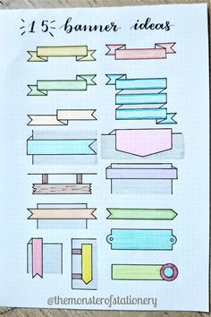 Best Bullet Journal Banner Ideas For 2020 - Crazy Laura If you want to add some extra decoration to your titles and headers, check out these awesome bullet journal banner ideas and tutorials for inspiration! Bullet Journal Headers And Banners, Bullet Journal Writing, Bullet Journal Banner, Bullet Journal School, Bullet Journal Aesthetic, Bullet Journal Tracker, Bullet Journal Ideas Pages, Bullet Journal Layout, Bullet Journal Inspiration