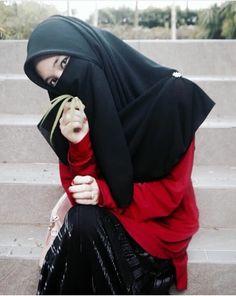 Niqab Hijab Niqab, Muslim Hijab, Hijab Outfit, Hijabi Girl, Girl Hijab, Niqab Fashion, Muslim Fashion, Muslim Girls, Muslim Women
