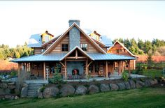 Log Home Porch With Fireplace Plans Html on
