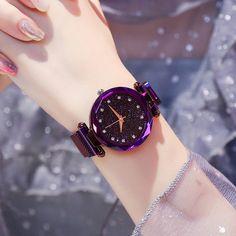 Luxury Women Watches Ladies Magnetic Starry Sky Clock Fashion Diamond Female Quartz Wristwatches relogio feminino zegarek damski-in Women's Watches Trendy Watches, Cool Watches, Watches For Men, Women's Watches, Watches Online, Cheap Watches, Ladies Watches, Rose Gold Watches, Elegant Watches