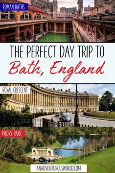 Is a day trip to Bath on your travel to-do list? From the famous Roman Baths to a scenic boat tour, start planning with my guide on what to do in Bath! >> Click through to read the full post! Europe Travel Guide, Travel Destinations, Budget Travel, Top Attractions In London, Boat Tours, Vacation Spots, Vacation Places, Ireland Travel, Day Trip