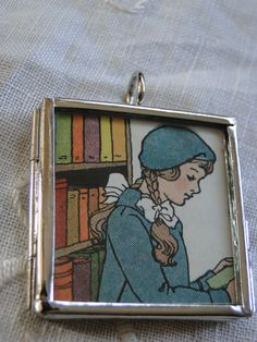Pendant Reading Girl by OneSmallStory