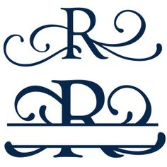 Download Image result for Free Monogram Fonts Split | Cricut ...
