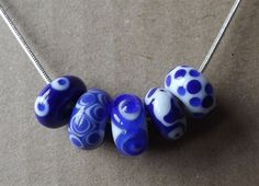 China Blue Murano Glass Necklace