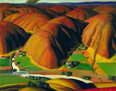 Ross Dickinson: Valley Farms, 1934 by americanartmuseum, via Flickr