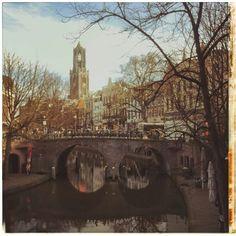 Oude Gracht en Domtoren door Marc Gruninger, 9 maart 2015.