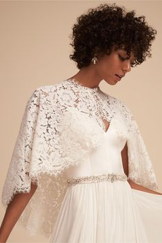 BHLDN Ivory Kittredge Capelet in  Shoes & Accessories | BHLDN