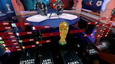 TDN artfully blends set, augmented reality for World Cup - NewscastStudio Open Set, Video Wall, Fashion Room, Augmented Reality, World Cup, Storytelling, Digital, World Cup Fixtures