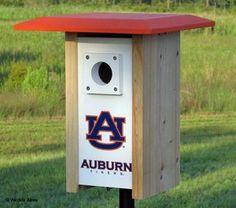 Auburn NCAA Bluebird/Songbird House