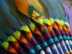 Hybrid macaw (catalina, camelot, and capri) tailfeather Native American Church fan Native American Church, Native American Regalia, Native American Crafts, American Indian Art, Feather Crafts, Feather Art, Native Art, Native Style, Indian Arts And Crafts