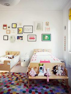 Kids Room  With the potential to be quirky and whimsical, gallery walls are perfect for kid's rooms. Learn more at Hoo.