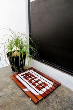DIY Wood Slat Doormat