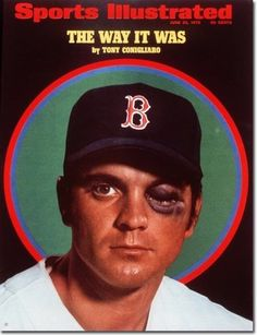 Sports Illustrated, June 22, 1970. Photograph of Tony Conigliaro by Neil Leifer. See more vintage baseball magazine covers here: http://www.robertnewman.com/10-great-baseball-magazine-covers/