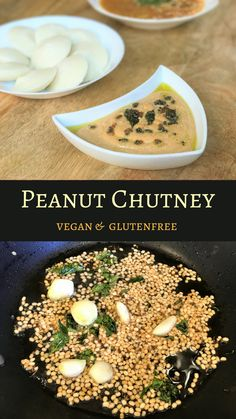 Super easy Peanut Chutney or Groundnut Chutney. A delicious and nutritious accompaniment to south indian favorites - idli, dosa or upma. Veg Recipes, Curry Recipes, Indian Food Recipes, Vegetarian Recipes, Cooking Recipes, Healthy Recipes, South Indian Chutney Recipes, African Recipes, South Indian Breakfast Recipes