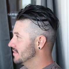 Haircuts For Balding Men - Undercut with Long Slicked Back Top
